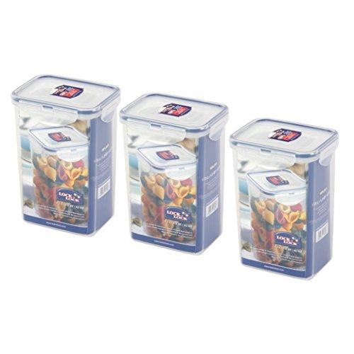 Lock & Lock HPL809 Nudel-/Lebensmittel-Vorratsdose, 1,3 l, 3 Stück (Locknlock Container)