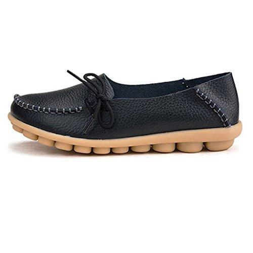 Eagsouni® Donna Moda Mocassino Flats Casuali Comfort scarpe da guida Nero