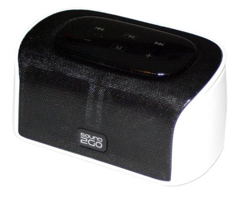 SOUND2GO CUBY - Bluetooth 3.0 Stereo Lautsprecher mit Freisprecheinrichtung, Micro-SD-Slot und Bluetooth Adapter über Line-Out - weiß