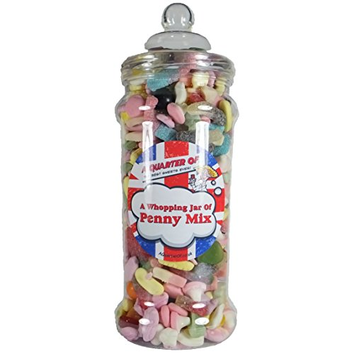 A Quarter Of Classic Retro Sweetshop `Whopping Penny Mix` Jar Of Retro Sweets