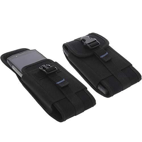 foto-kontor Tasche für Blackview BV9000 / BV9000 Pro Outdoor Hülle Metallclip Gürtelschlaufe mit Sicherheitsclip
