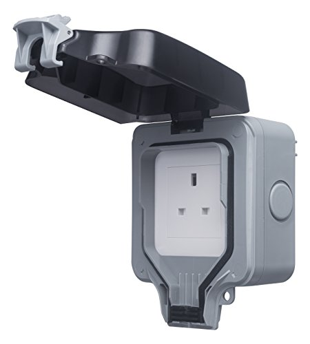 Masterplug WP23 13 A 1-Gang Storm Weatherproof Outdoor Un-Switched Socket IP66 Rated by Masterplug - Switched Socket