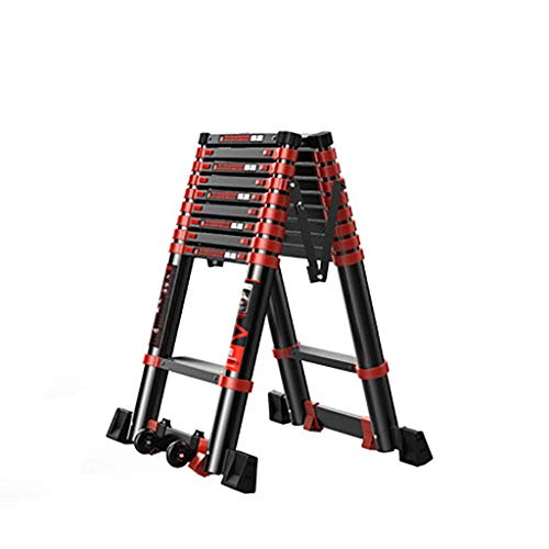 Teleskop Aluminium-legierung Leiter,erweiterung Leiter Portable Ausfahrbare Anti-rutsch Zusammenlegbar Treppenleiter Multifunktion Leiter-b5 4.7+4.7m (Storage-schuppen Portable)