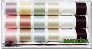 Madeira 8031 Cotona N° 80 Boîte fils à broder 18 bobines de 200 m