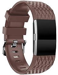 Vovotrade ❤❤ Fitbit Charge 2 Armband Neue Art- und Weisesport-kreatives Silikon-Armband-Bügel-Band für Fitbit Gebühr 2