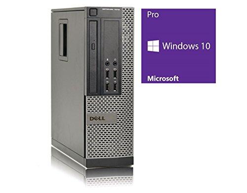 Ordinateur de bureau Dell 7010 SFF - Pentium G2130 @ 3,2 GHz - 4 Go RAM - 320 Go HDD - Graveur DVD - Windows 10 PRO 64 bits préinstallé - (Reconditionné Certifié)