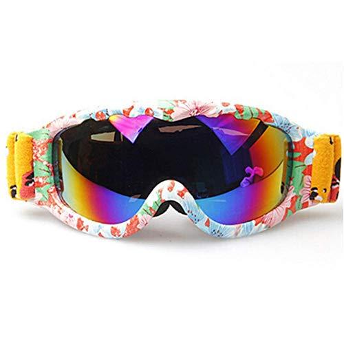 Foncbien bambini occhiali da sci a doppia lente sferica di protezione uv400 maschere goggle visione chiara anti-nebbia anati-vento con goggle case ski goggles