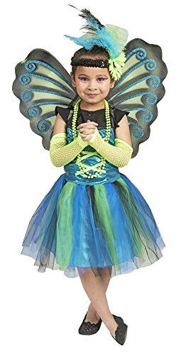 Kleiner Pfau Kostüm für Mädchen Gr. 8-12 Jahre