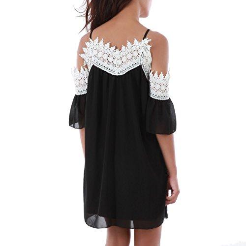 La Modeuse - Robe longue femme Noir