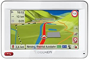 Becker Ready 45 ICE Navigationsgerät (4,3'' (10,9 cm) Display, reflektionsarmer Touchscreen, 44 Länder vorinstalliert, Fahrspurassistent Pro 3D, SituationScan, Freisprecheinrichtung) weiß