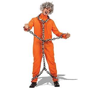 Carnival Toys - Disfraz prisionero en bolsa, talla única, color naranja (82116)