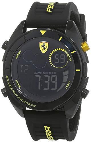 Scuderia Ferrari Hommes Analogique-Digital Montre avec Bracelet en Silicone 830552