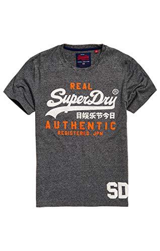 Superdry Herren Pullunder Vintage Authentic Duo Tee, Schwarz (Black Grit Nkm), Medium