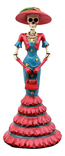 f The Dead DOD Skelett Lady Isabela Figur Hohe Tee Fashion Diva Statue 21,6cm H ()