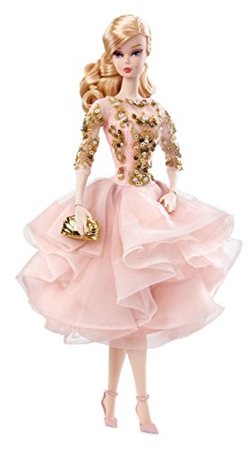 Barbie Mattel DWF55 - Collector Blush und Gold Cocktail Dress Puppe (Barbie-schmuck Erwachsene Für)