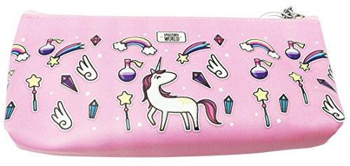 Estuche de unicornio para lápices con impresión 3D (longitud 19,6 pulgadas) como regalo para niña, color Rainbow