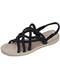 Longra Donna Bohemia confortevole sandali di grandi dimensioni (EU Size:39, Blu)
