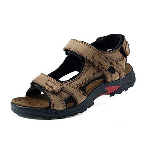 GenialES Sandales Plateforme Homme été Plage Confort Chaussures de Marche de Randonnée Kaki 39/46 Kaki