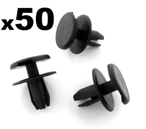 50x Pinces / Plastique Pare-chocs Avant Opel / Vauxhall, Astra, Signum, Vectra Rivets - 1406925 / 9130754 - LIVRAISON GRATUITE!