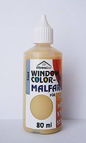 WINDOW COLOR MALFARBE 80ml Farbe Fenstermalfarbe Fensterfarbe 24 Farben Glas (Sand)