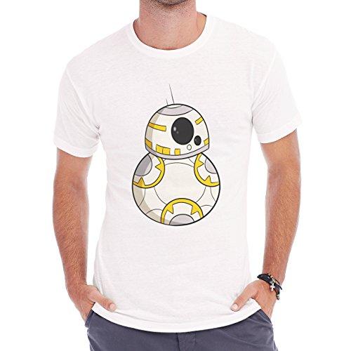 Robot Metal Cyborg Cartoon Star Wars Ball Herren T-Shirt Weiß