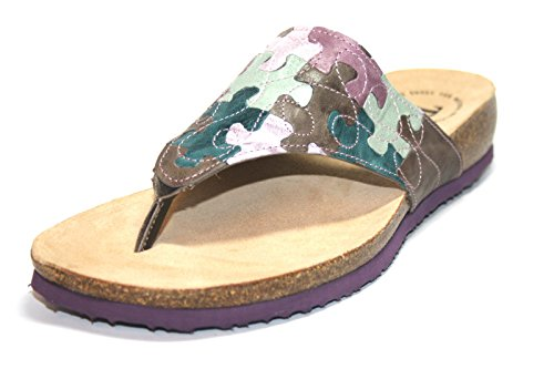 Think Julia 86336Donna dita dei piedi sandali da, marrone (Braun (kred/kombi 23)), 41 EU