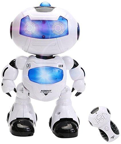 Wishtime Telecomando Robot Giocattolo Intelligente Walking RC Space Robot con Musica e Luce per Bambini