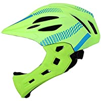 DZTIZI Bike Helmet Kid Full Covered Face Protection Detachable Suitable For Balance Bike Cycling Motocross Breathable Safety Multicolor,B