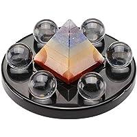 JOVIVI Fengshui Deko Set 7 Chakra Pyramide + 6 Stück Bergkristall Steinkugeln + Obsidian Basis Energietherapie... preisvergleich bei billige-tabletten.eu