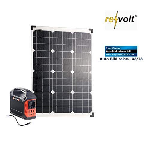 reVolt Solaranlagen: Solar-Generator & Powerbank mit 50-W-Solarzelle & Anschlusskabel, 42Ah (Solargenerator und Powerbank)