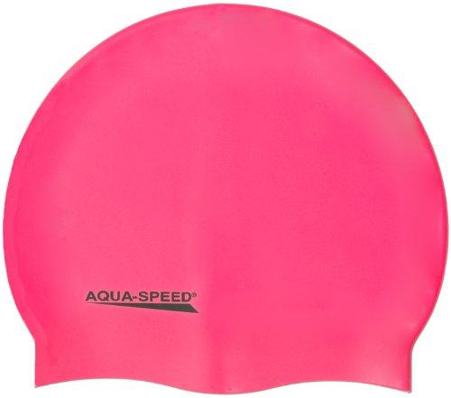 Aqua Speed Bademütze/Schwimmkappe - Super-stretch Mega 100-03 (rosa)