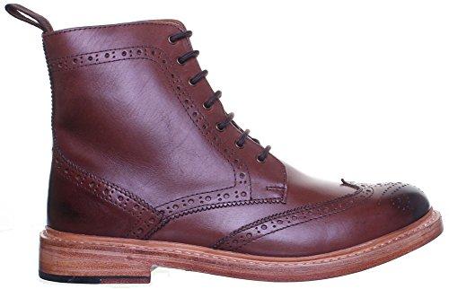 Reece Justin Dylan renforcées en cuir GoodYear mat pour chaussures Marron - Brown AG7