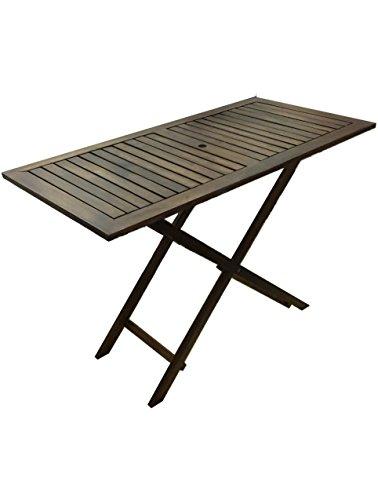 Holzklappbaren tragbaren Tisch,dunkel, (120x60 cm)