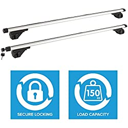 Wido Universal Car/Van Roof Rack Luggage Roof Rails 115cm Max 150Kg Lockable