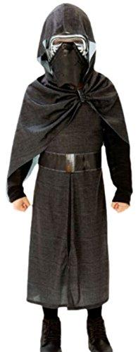 Confettery - Jungen Star Wars Kylo Ren Fasching Karnevalskostüm , 134, Schwarz (Ki Adi Mundi Costume)