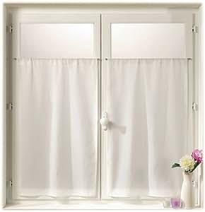 la cadi re d 39 azur 0323 10 415 scheibengardinen spitz wei 2 st ck 45x90 k che. Black Bedroom Furniture Sets. Home Design Ideas