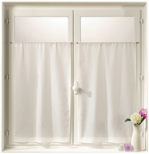 linder-0323-10-415-paire-de-vitrages-droits-etamine-blanc-passe-tringle-70-x-160-cm