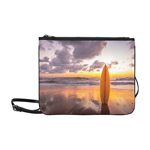 SHAOKAO Viele verschiedene Surfbretter-Muster-kundenspezifische hochwertige Nylon-dünne Handtasche Cross-Body Bag Umhängetasche