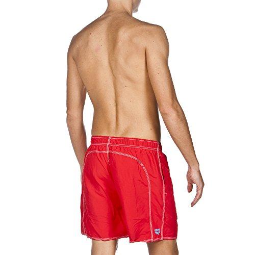 arena Herren Fundamentals Solid Boxer Badeshort Red/Turquoise