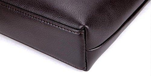 Männer Aktenkoffer Geschäft Tasche Leder Handtasche Umhängetasche Messenger Tasche Computer Tasche Lässig Mode Atmosphäre Wild Brown