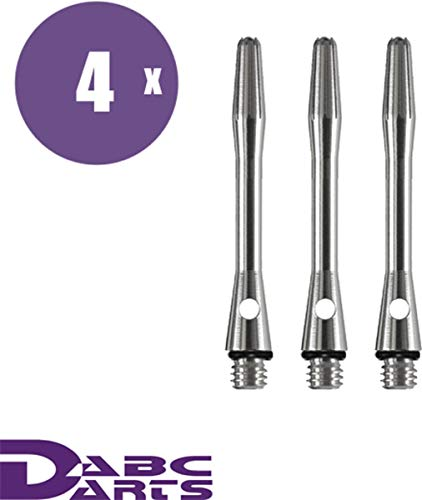 ABC Darts - Aluminum Dart Schäfte Set mit O-Ringe - Short Silber - 4 sätz Dart Shafts