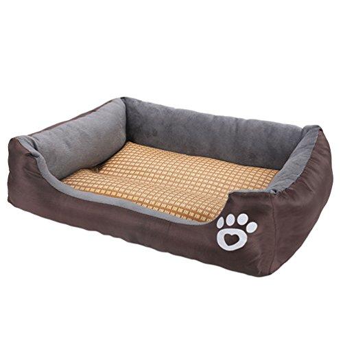 Sentaoa cuscino materasso del canile tappetino rinfrescante per cane gatto estivo stuoia fredda di raffreddamento letto pets (marrone,68 * 55 * 16 cm)
