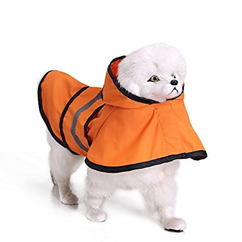L'Univers Meilleur UB Chic Mode pour animal domestique jours de pluie imperméable Slicker réfléchissant pour petit animal Chien imperméable imperméable