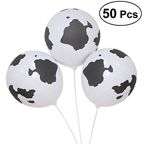 Toyvian 50 stücke Party Latex Ballons Kuh Druck Ballons für Bauernhof Tier Geburtstag Hochzeit Baby Shower Party Dekoration liefert