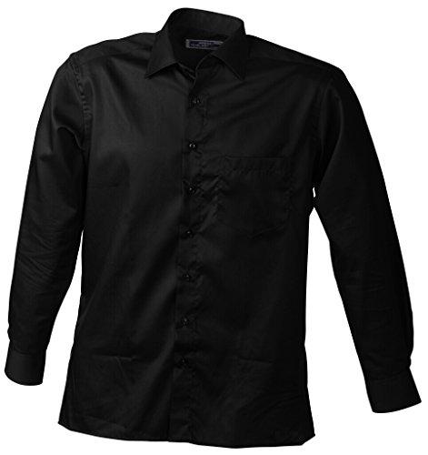 JAMES & NICHOLSON Camicia di facile stiratura Black