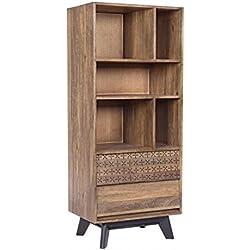 Libreria madera de mango , colección alejandria