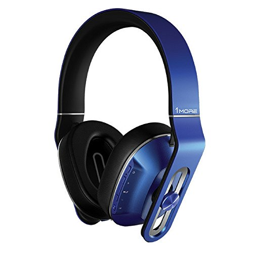 1MORE MK802 Bluetooth Kopfhörer 4.1 aptX Stereo Kabellos Headset Over-Ear mit Mikrofon,3-Stufen-Bass,für TV Smartphone Tablet Laptop PC (Blau)