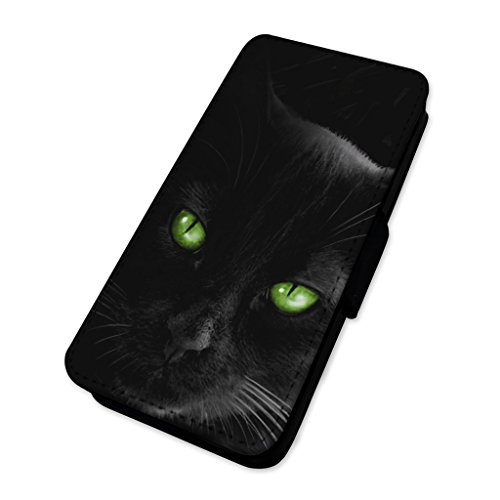 Beautiful Black Cat Eyes–Custodia ad aletta in pelle copertura di carta Apple Iphone 6 Plus/6s Plus