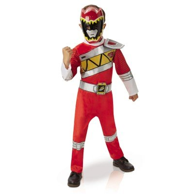 Rubies - i-620422s Aufladen - Power Rangers Deluxe Dino-Outfit Dekoration, Rot, Größe S (Red Power Ranger-outfit)