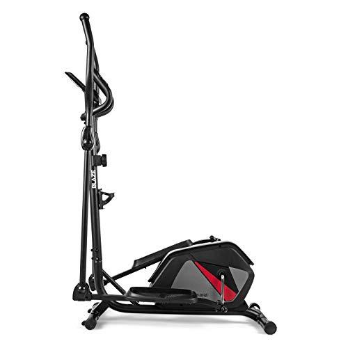 Xylo Crosstrainer Heimtrainer Ellipsentrainer Fitness Magnetisch mit Tablet-Halterung (schwarz)